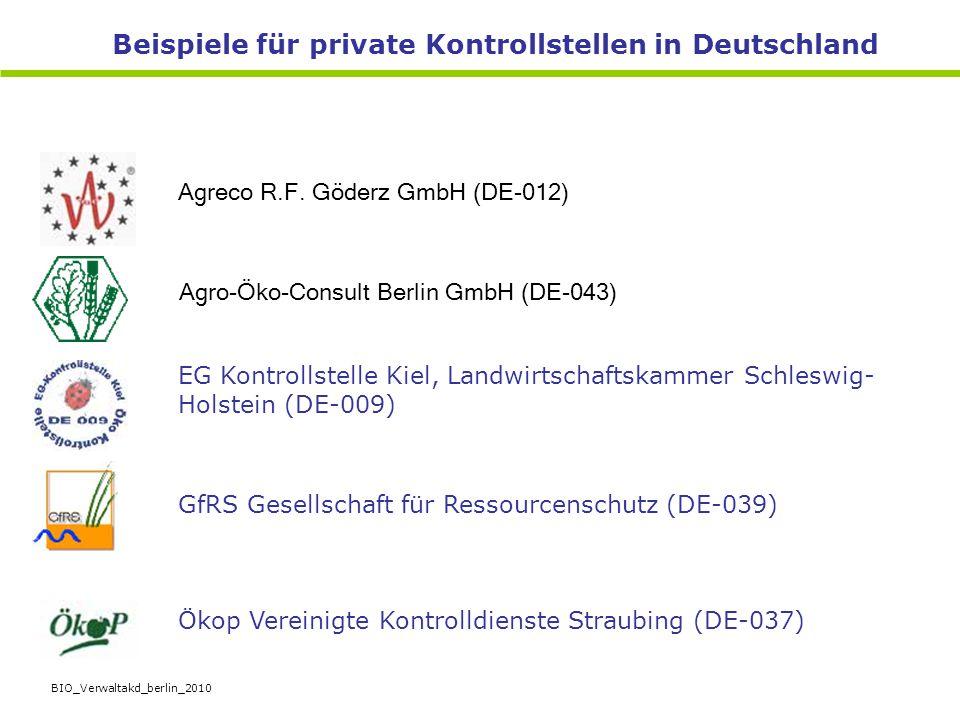 Beispiele für private Kontrollstellen in Deutschland