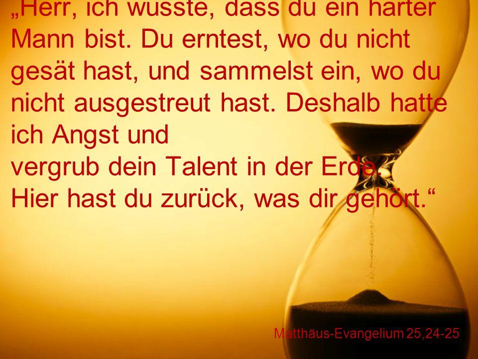 Matthäus-Evangelium 25,24-25