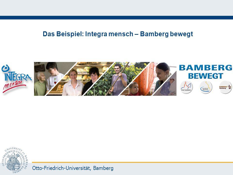 Das Beispiel: Integra mensch – Bamberg bewegt