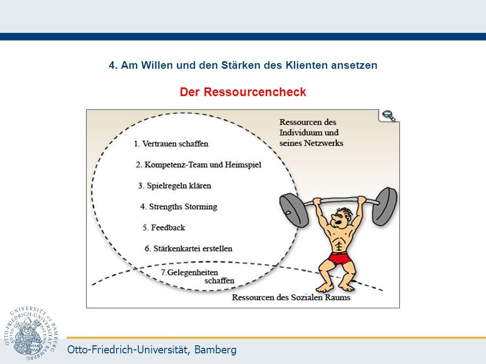 4. Am Willen und den Stärken des Klienten ansetzen Der Ressourcencheck