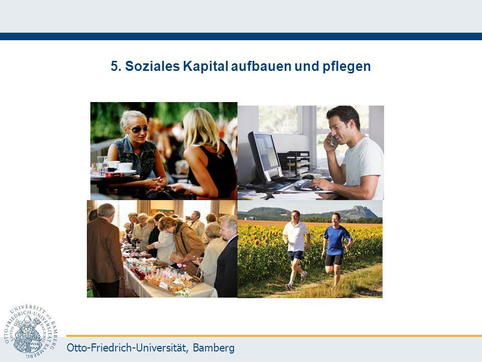 5. Soziales Kapital aufbauen und pflegen