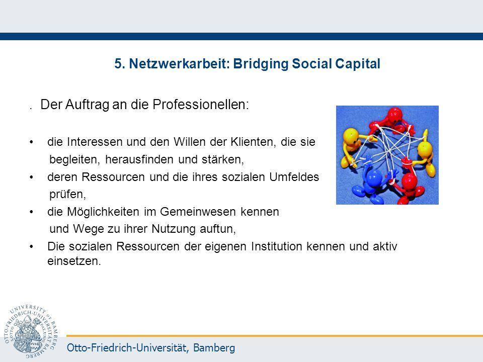5. Netzwerkarbeit: Bridging Social Capital