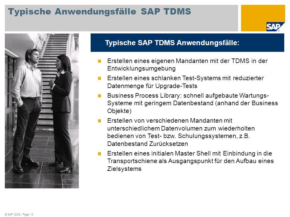Typische Anwendungsfälle SAP TDMS