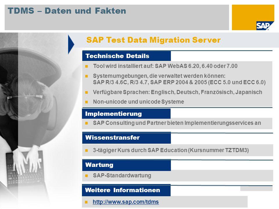 TDMS – Daten und Fakten SAP Test Data Migration Server