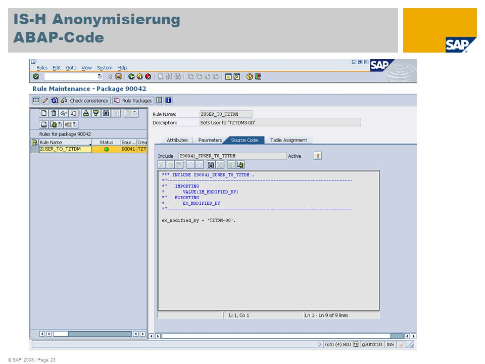 IS-H Anonymisierung ABAP-Code