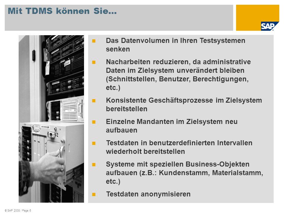 Mit TDMS können Sie… Das Datenvolumen in Ihren Testsystemen senken