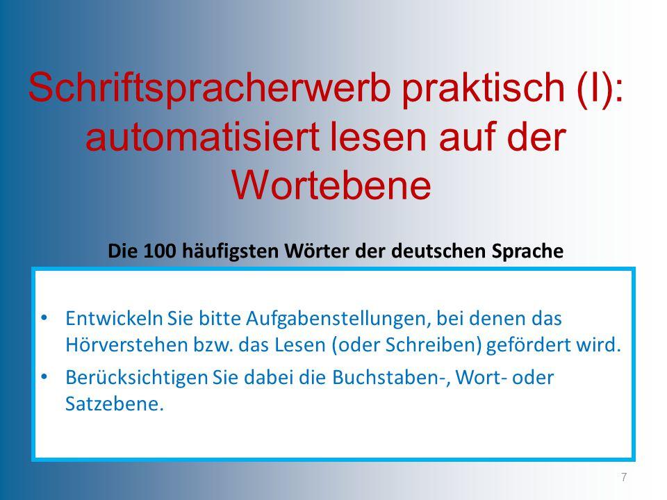Die 100 häufigsten Wörter der deutschen Sprache