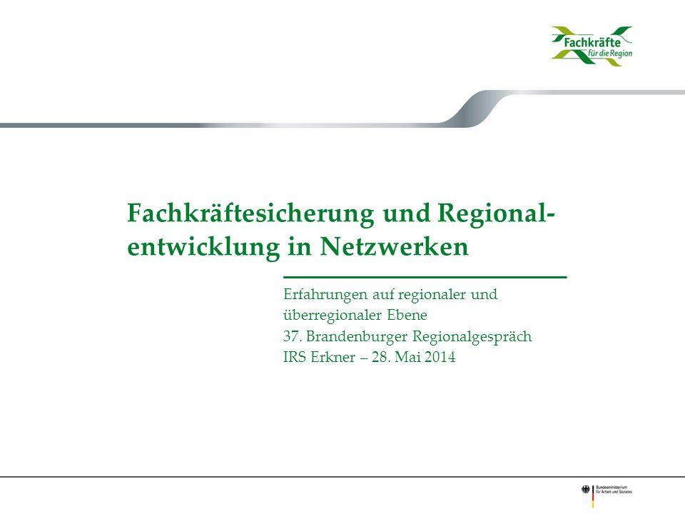 Fachkräftesicherung und Regional-entwicklung in Netzwerken