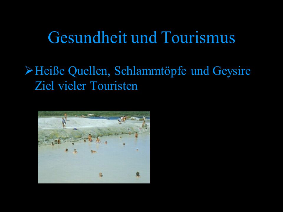 Gesundheit und Tourismus