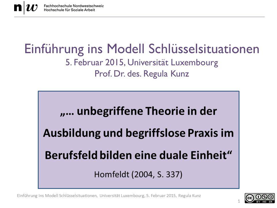 Einführung ins Modell Schlüsselsituationen 5