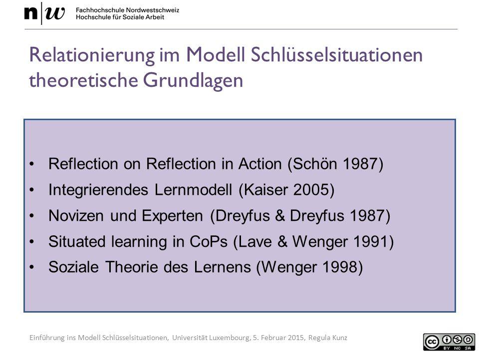 Relationierung im Modell Schlüsselsituationen theoretische Grundlagen