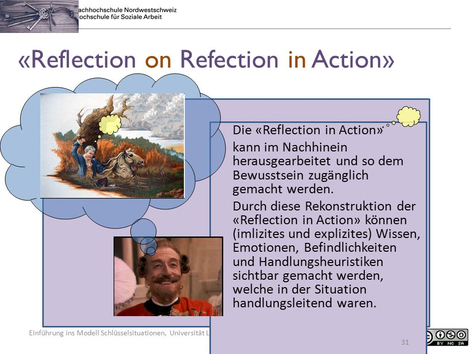 «Reflection on Refection in Action»