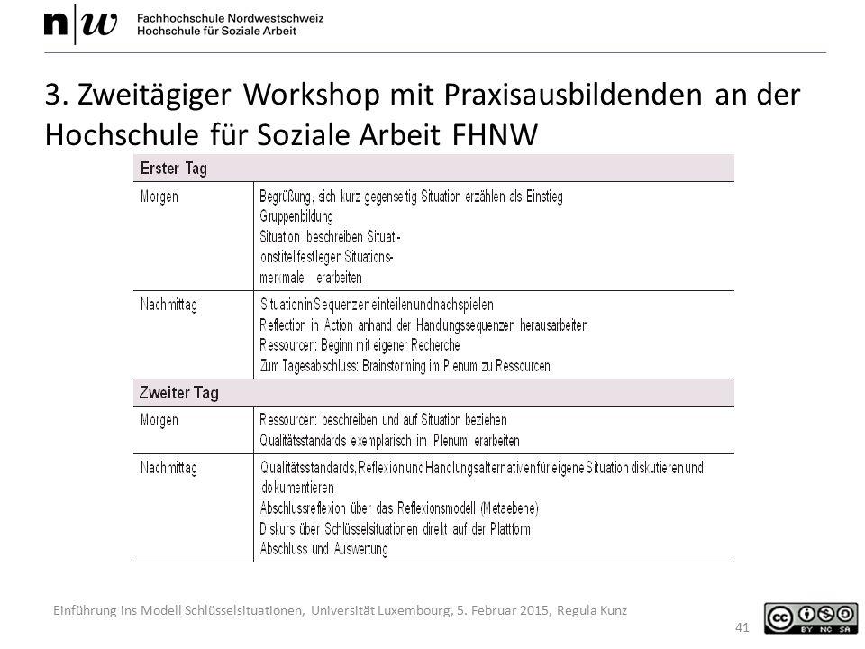 3. Zweitägiger Workshop mit Praxisausbildenden an der Hochschule für Soziale Arbeit FHNW