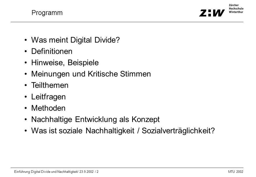 Was meint Digital Divide Definitionen Hinweise, Beispiele