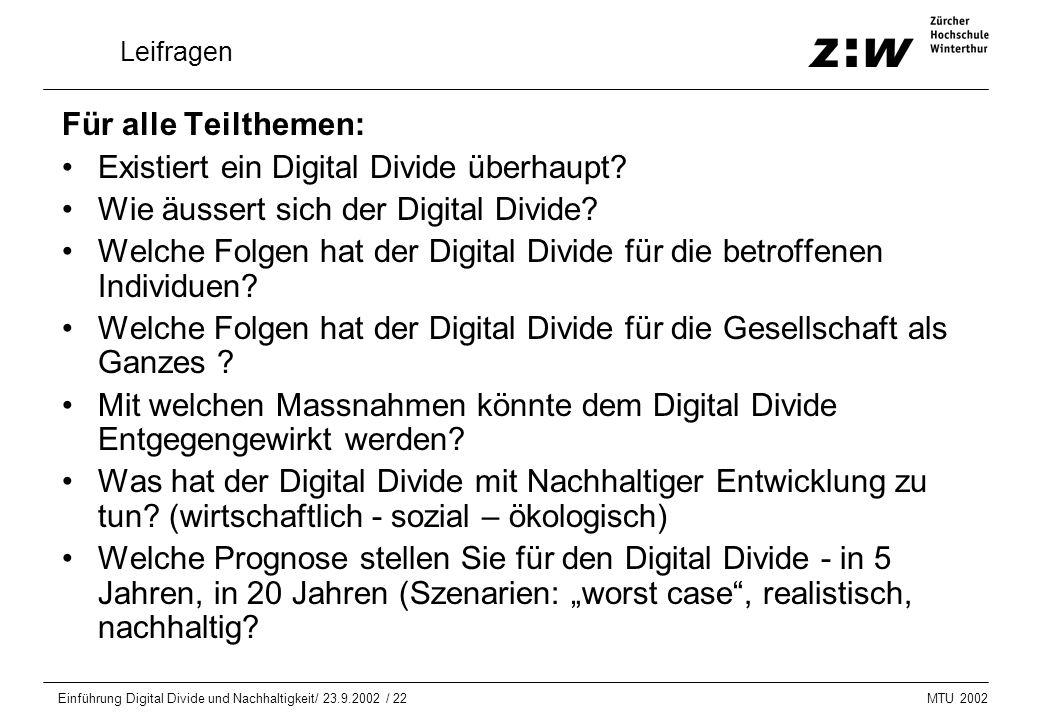 Existiert ein Digital Divide überhaupt
