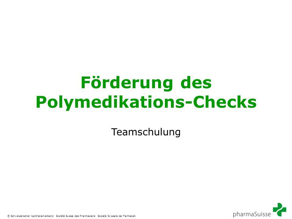Förderung des Polymedikations-Checks