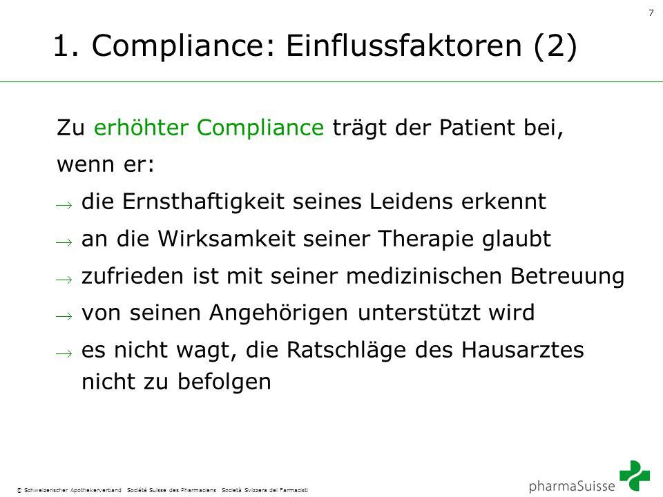 1. Compliance: Einflussfaktoren (2)