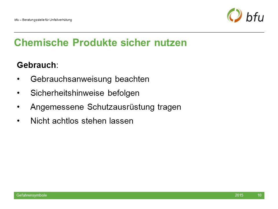 Chemische Produkte sicher nutzen