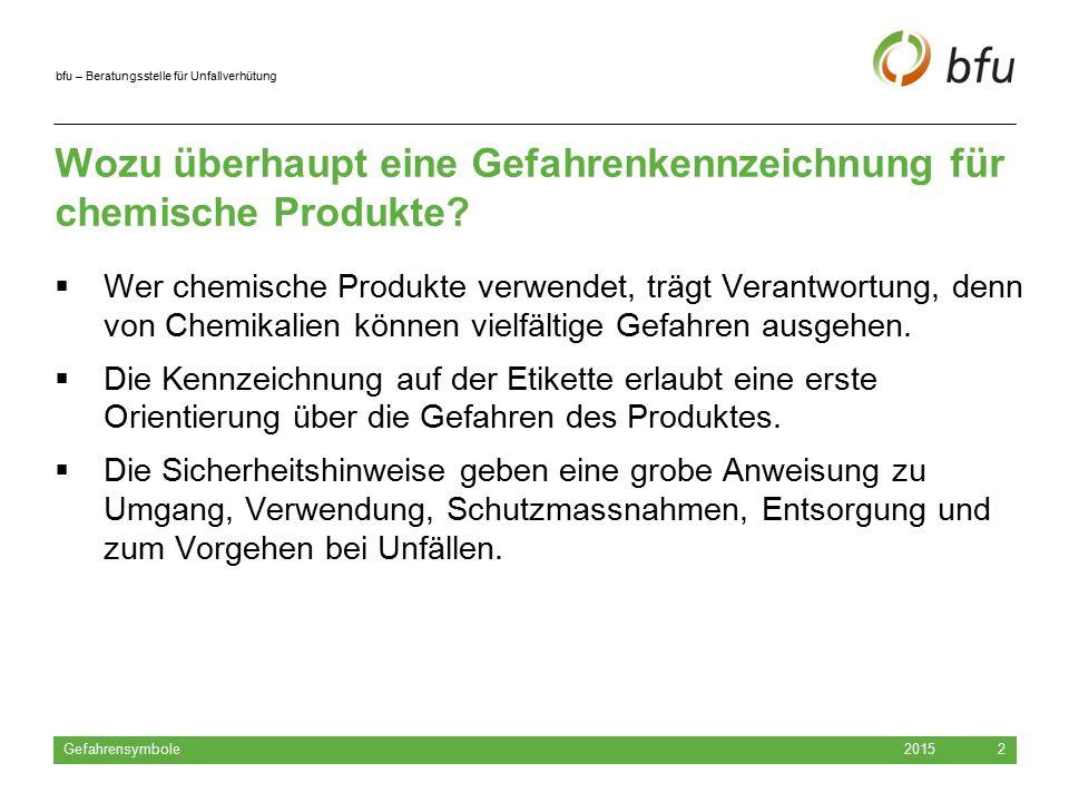 Wozu überhaupt eine Gefahrenkennzeichnung für chemische Produkte
