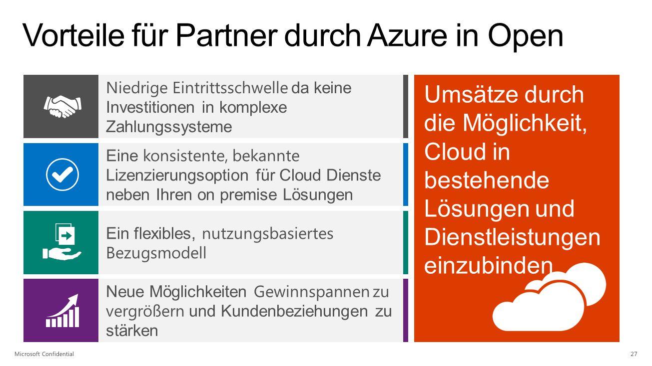 Vorteile für Partner durch Azure in Open