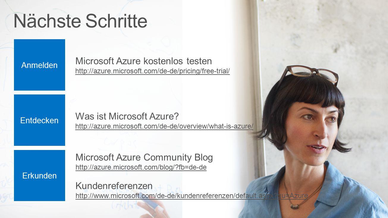 Nächste Schritte Microsoft Azure kostenlos testen