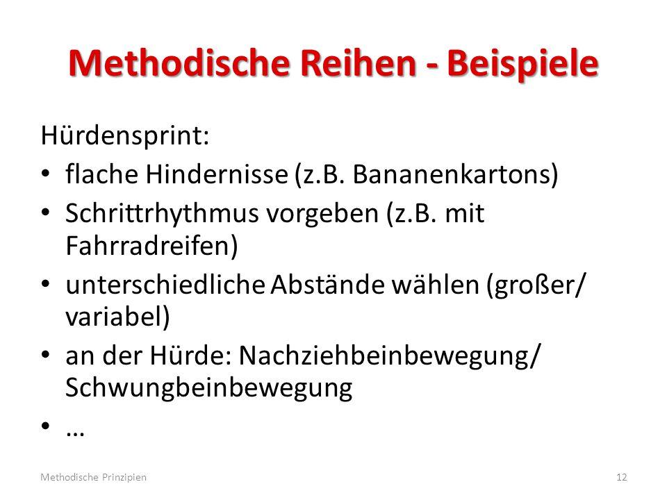 Methodische Reihen - Beispiele