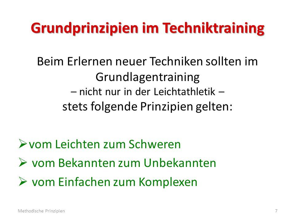 Grundprinzipien im Techniktraining