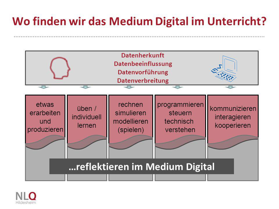 Wo finden wir das Medium Digital im Unterricht