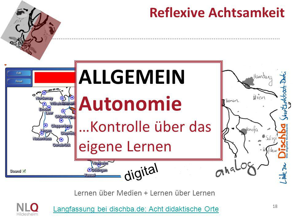 ALLGEMEIN Autonomie …Kontrolle über das eigene Lernen