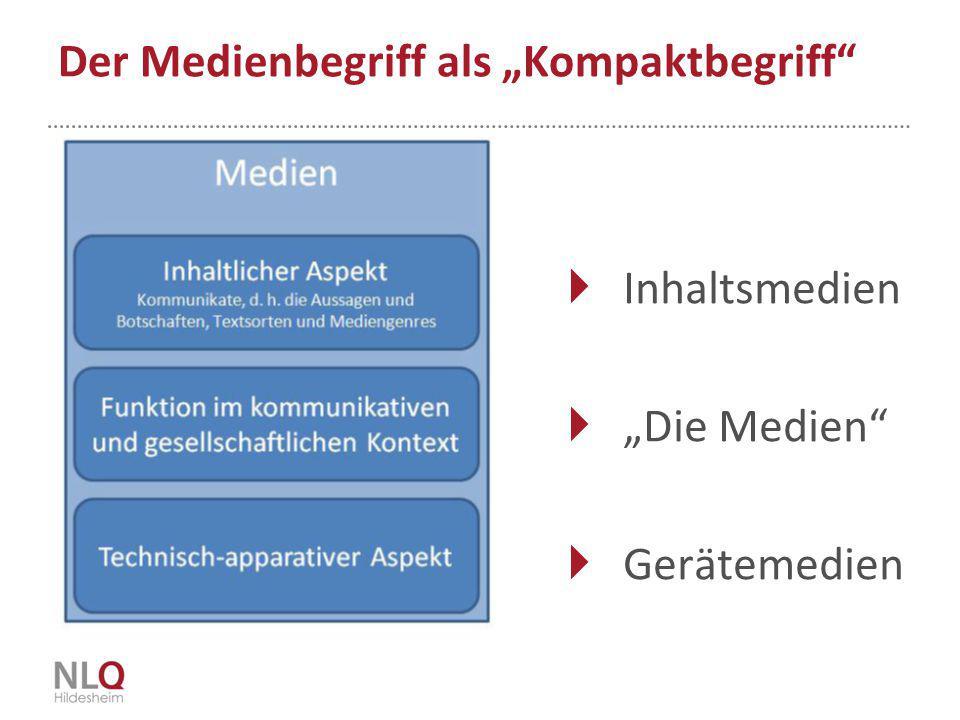 """Der Medienbegriff als """"Kompaktbegriff"""