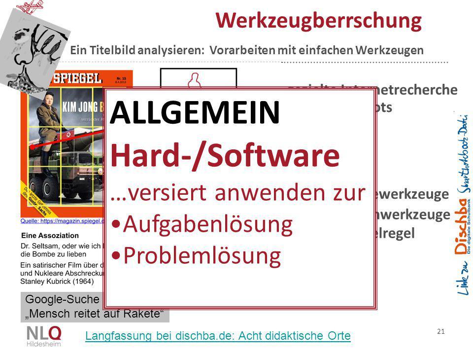 ALLGEMEIN Hard-/Software …versiert anwenden zur Aufgabenlösung
