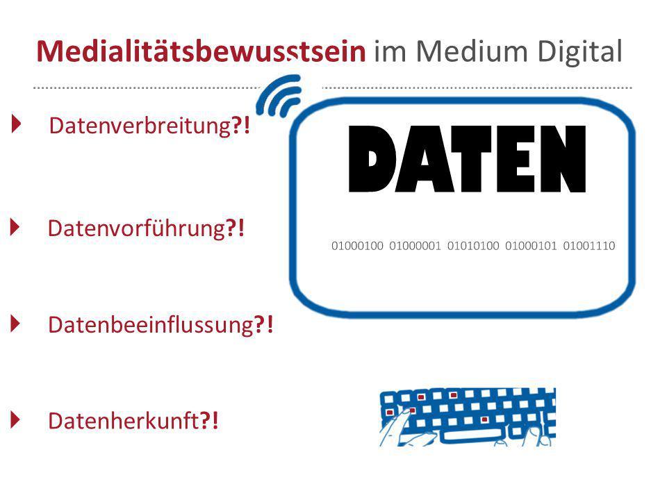 Medialitätsbewusstsein im Medium Digital
