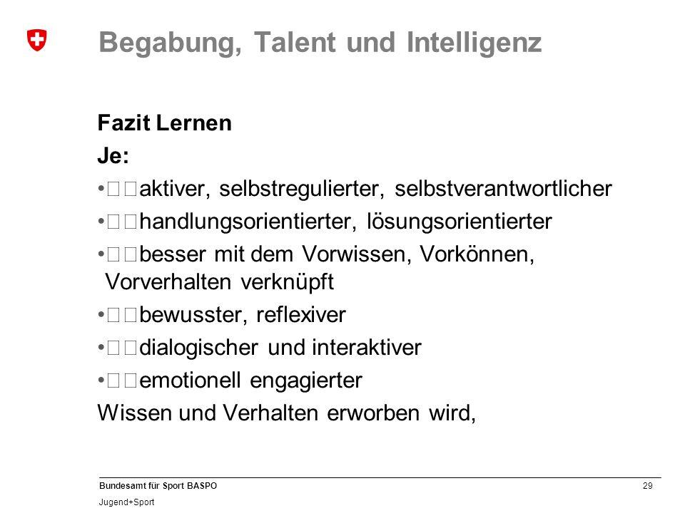Begabung, Talent und Intelligenz