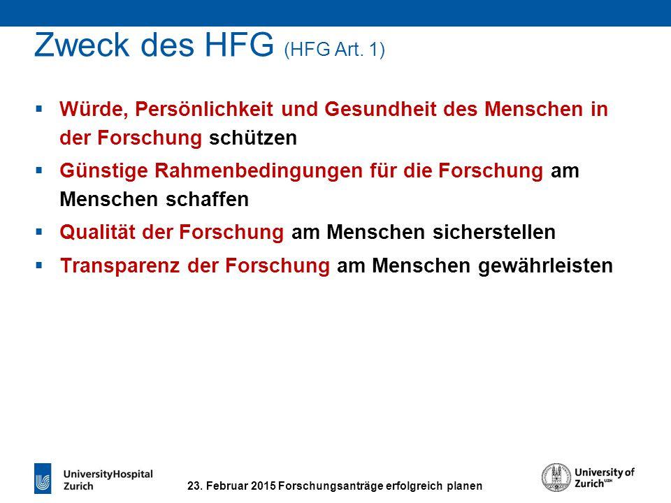 Wissenschaftliche Anforderungen (HFG Art. 10)