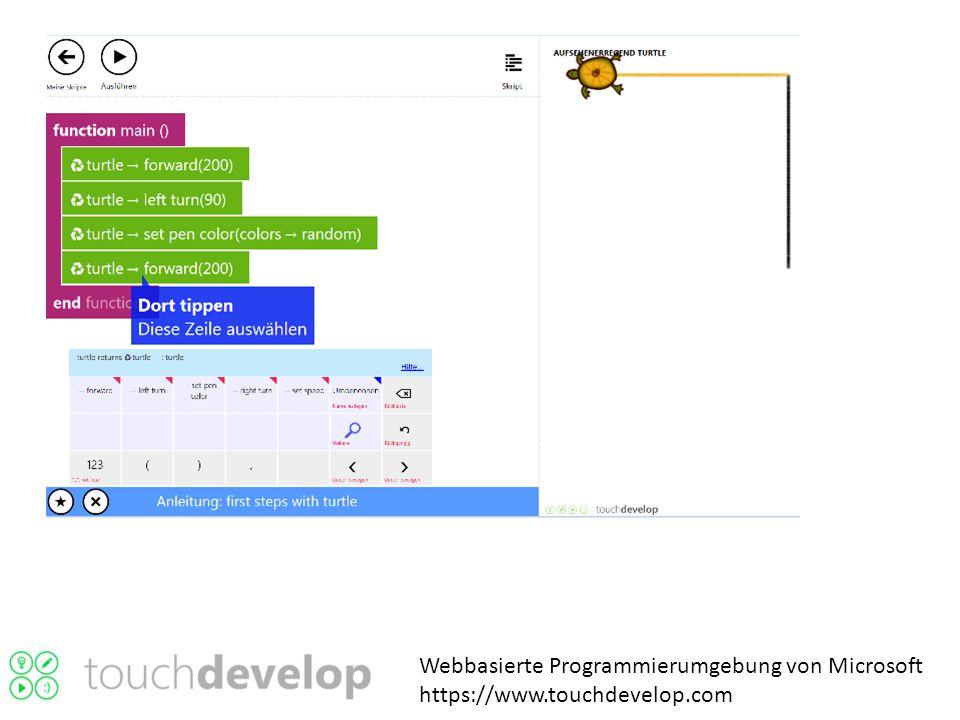 Webbasierte Programmierumgebung von Microsoft