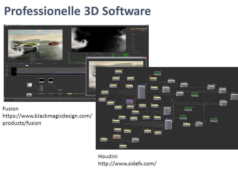 Professionelle 3D Software