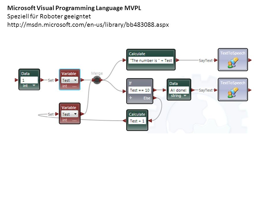 Microsoft Visual Programming Language MVPL