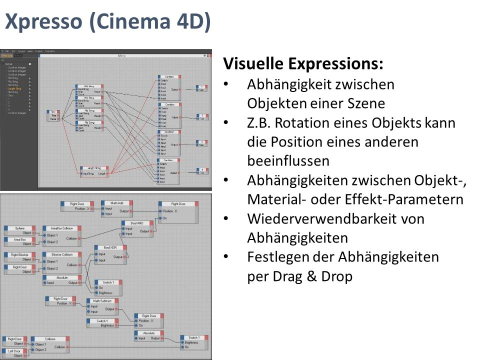Xpresso (Cinema 4D) Visuelle Expressions: