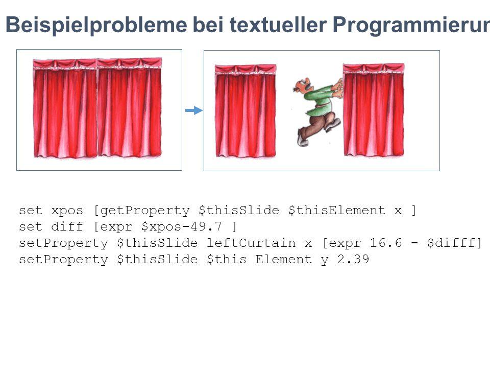Beispielprobleme bei textueller Programmierung