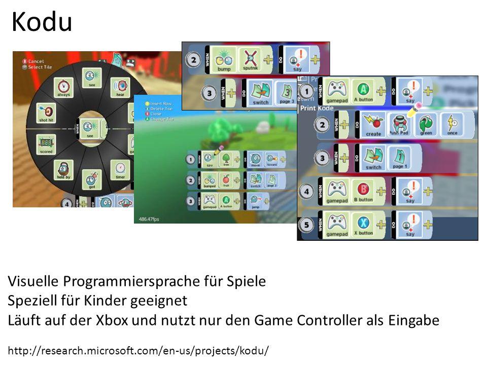 Kodu Visuelle Programmiersprache für Spiele
