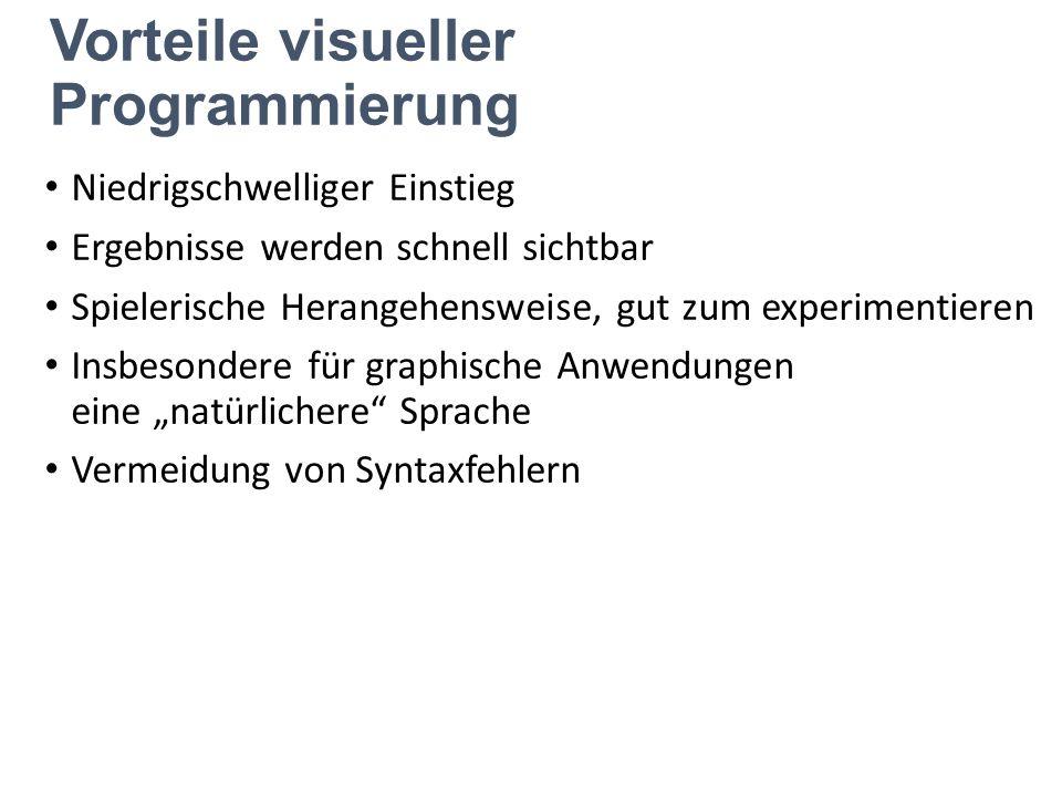 Vorteile visueller Programmierung