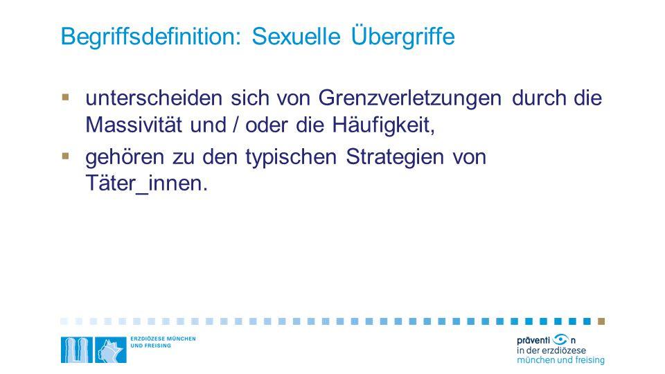 Begriffsdefinition: Sexuelle Übergriffe
