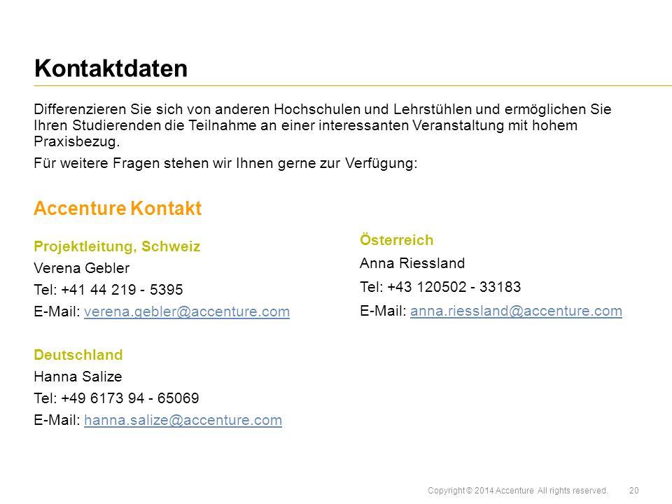 Kontaktdaten Accenture Kontakt