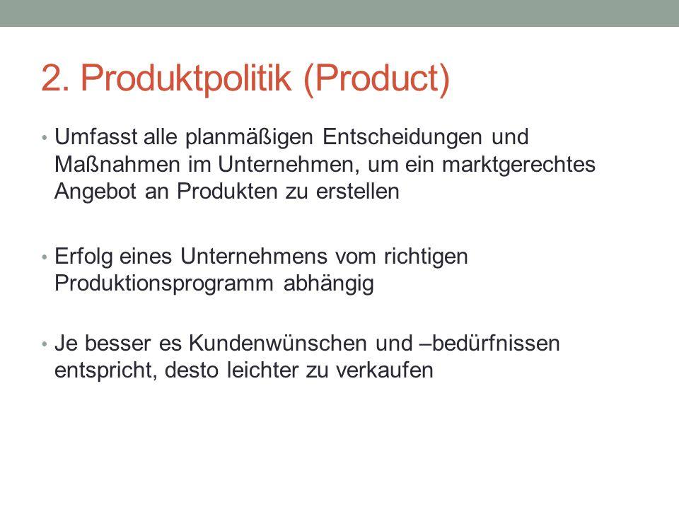 2. Produktpolitik (Product)