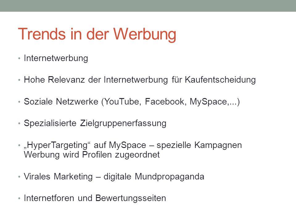 Trends in der Werbung Internetwerbung