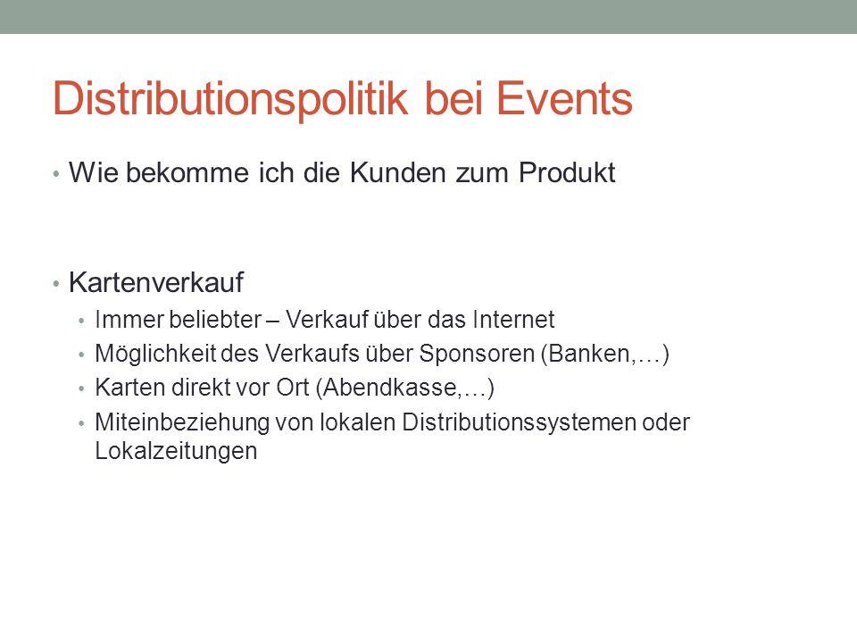 Distributionspolitik bei Events