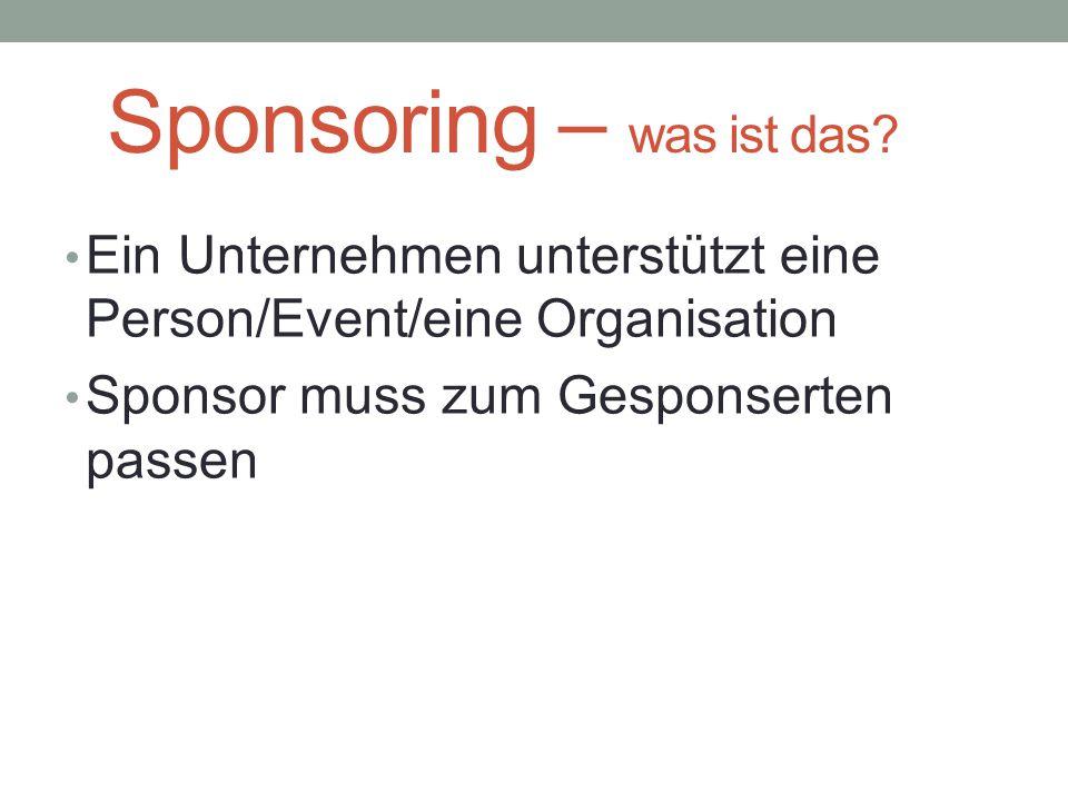 Sponsoring – was ist das