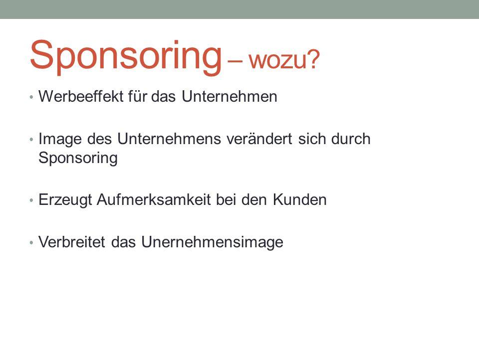 Sponsoring – wozu Werbeeffekt für das Unternehmen