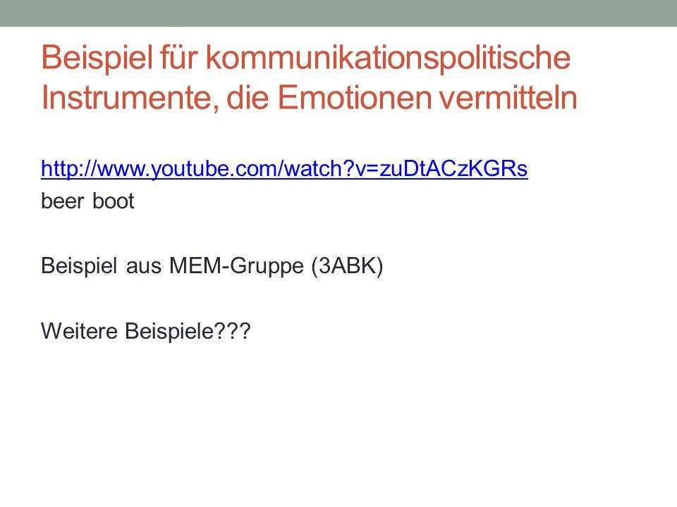 Beispiel für kommunikationspolitische Instrumente, die Emotionen vermitteln