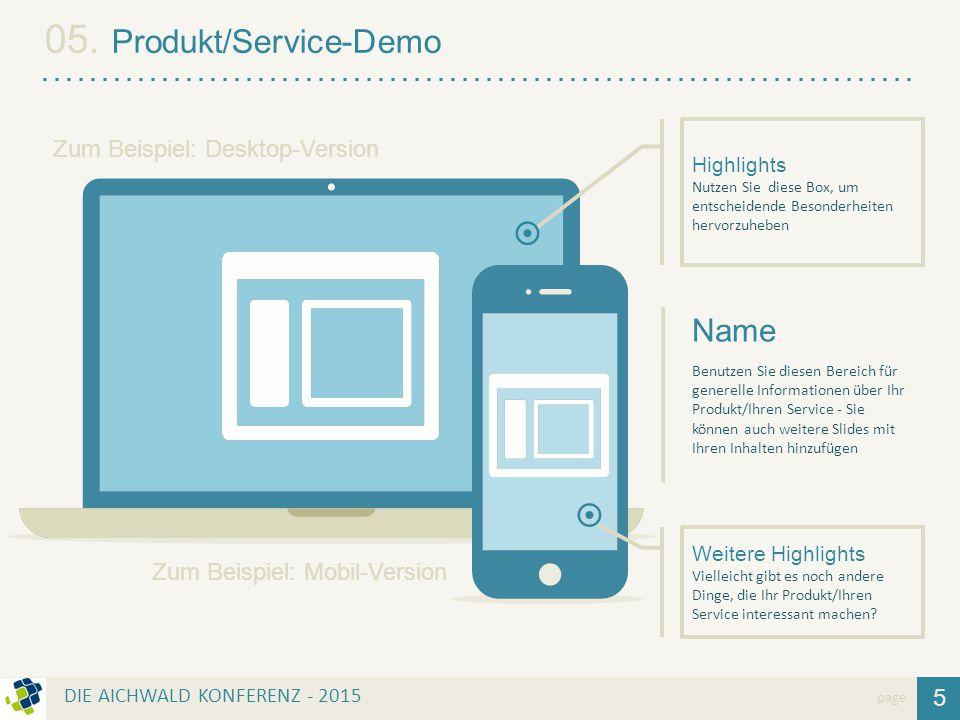 05. Produkt/Service-Demo